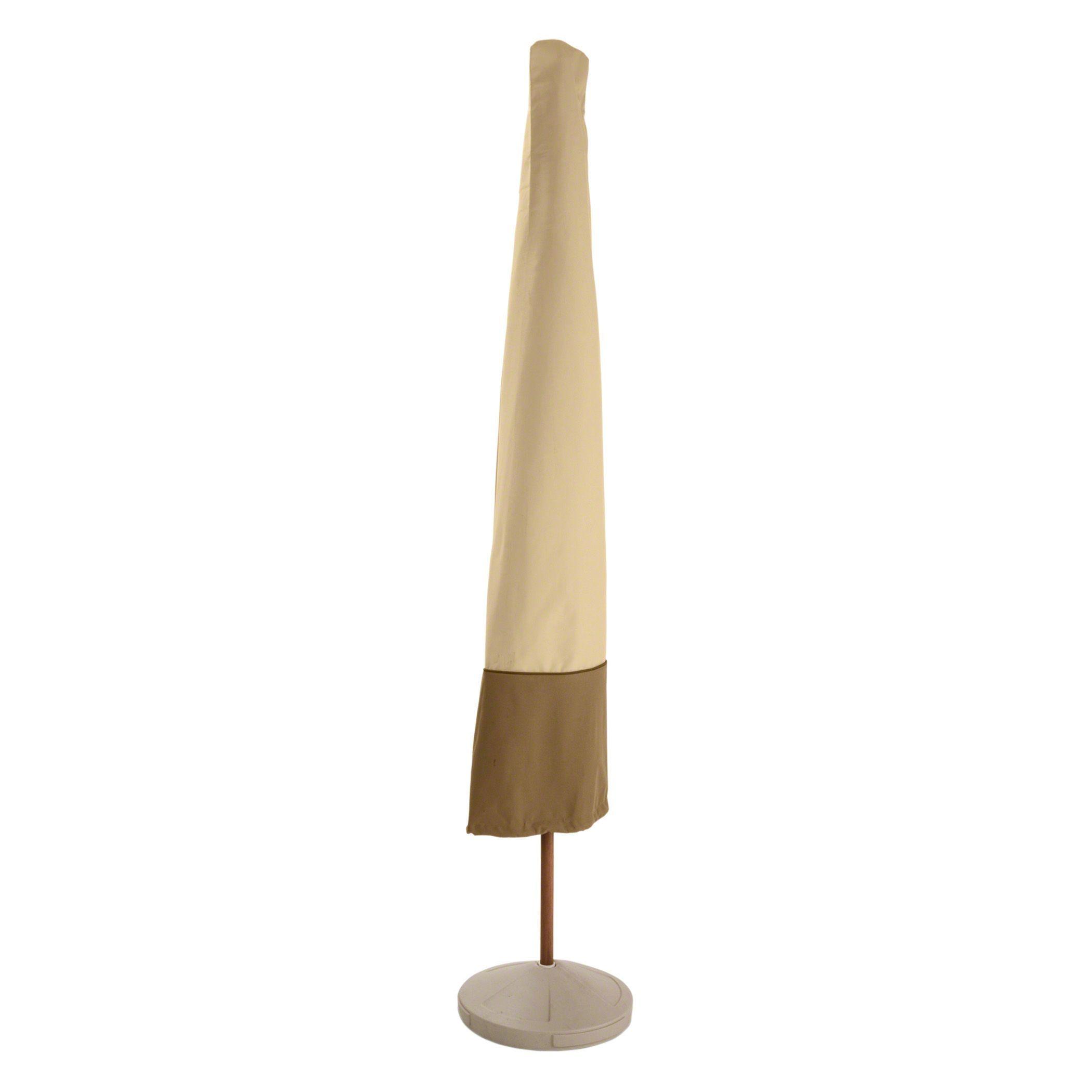 Classic Veranda Patio Umbrella Cover Beige f White Patio