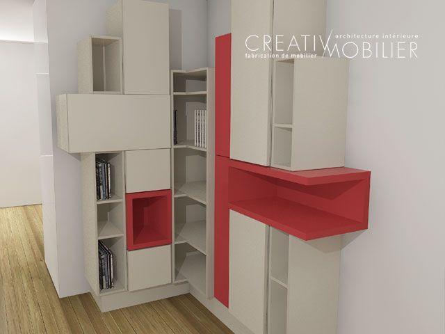 Lu0027équipe Creativ Mobilier Cuisine and Organizing - meuble vide poche design