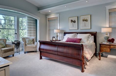Master Bedroom Decor And Wooden Sleigh Bed Bedroom Paint Colors Master Master Bedroom Colors Blue Master Bedroom