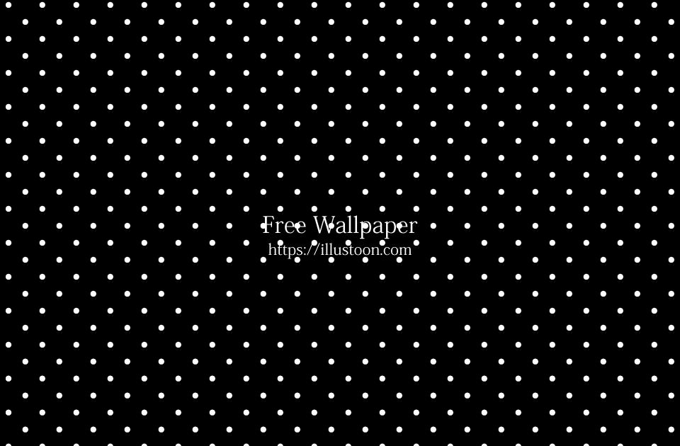 Free White Polka Dot Black Wallpaper Image Illustoon Dotty Wallpaper Public Domain Vectors Black And Wh Polka Dots Wallpaper Black And White Dots Wallpaper