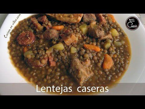 Cómo Hacer Lentejas Caseras Con Carne Receta Fácil Muy Sabrosas Toniococina 12 Lentejas Caseras Hacer Lentejas Lentejas