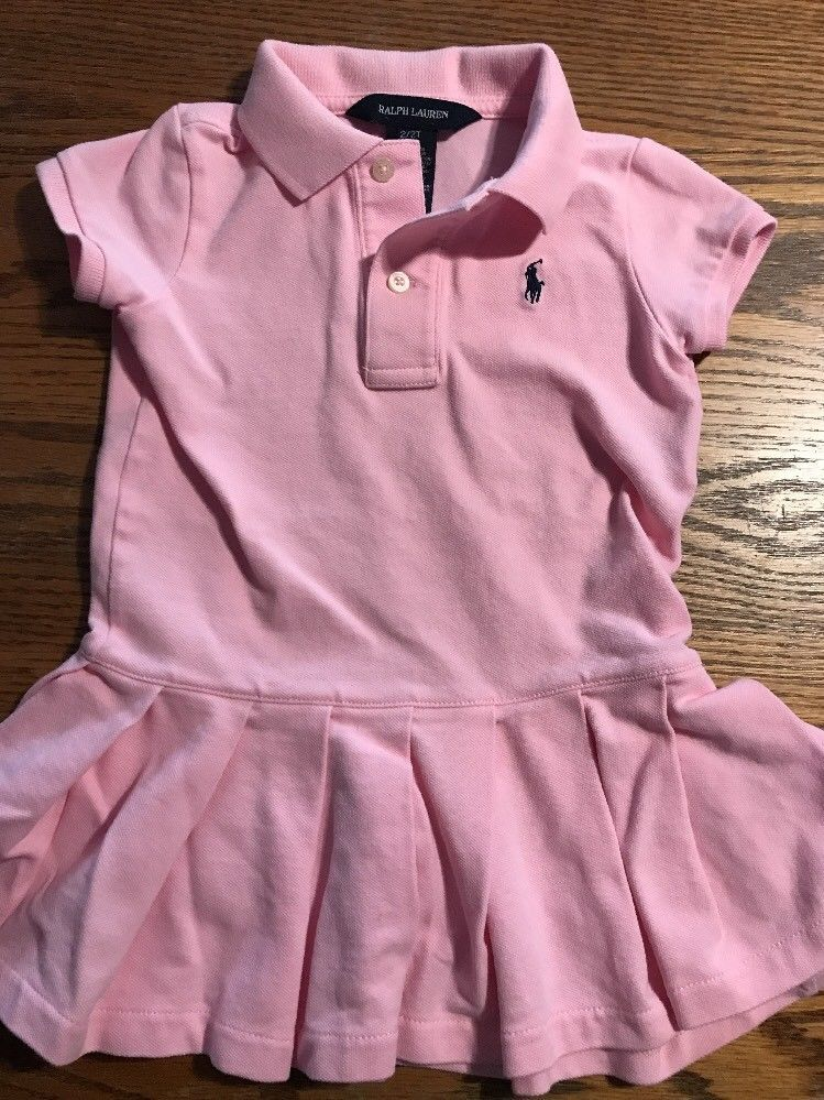 0bfd4815b Polo, Ralph Lauren Toddler Girls Size 2T Pink, Short Sleeve Polo Dress |  eBay