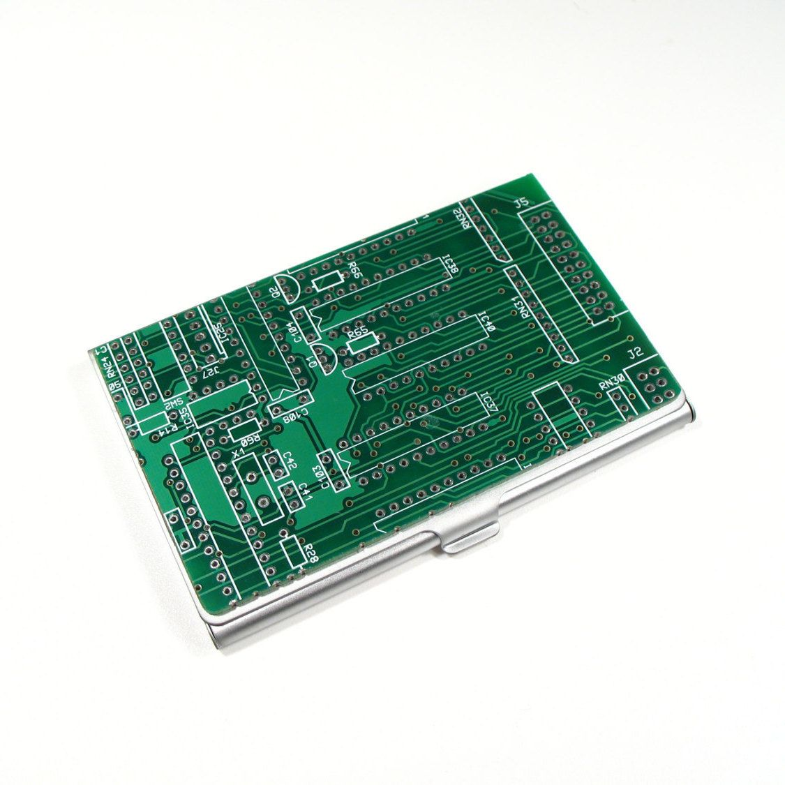 Business Card Case, Circuit Board, Office Present, Business Gift ...