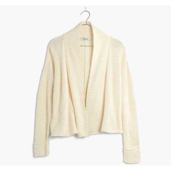 MADEWELL Shawl-Collar Crop Cardigan Sweater ($50) ❤ liked on ...