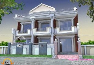 Long Front Pillar Home Design Kerala Home Design Bloglovin Main Gate