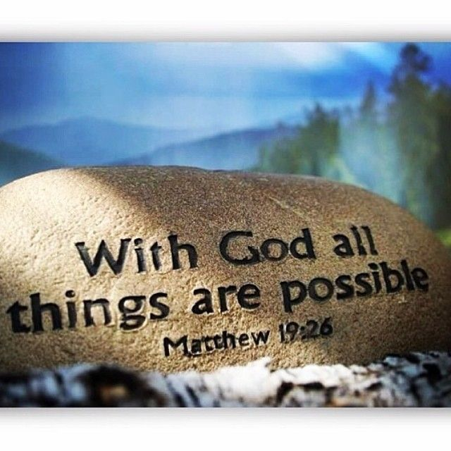 With God All Things Are Possible Quotes Quote God Religion
