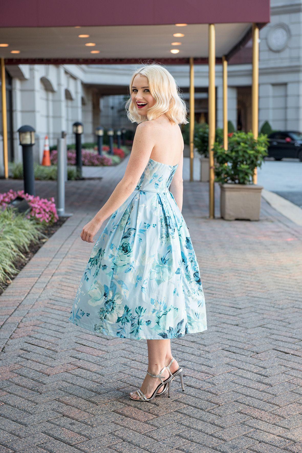Poor Little It Girl - Blue Floral Party Dress @poorlilitgirl | Poor ...