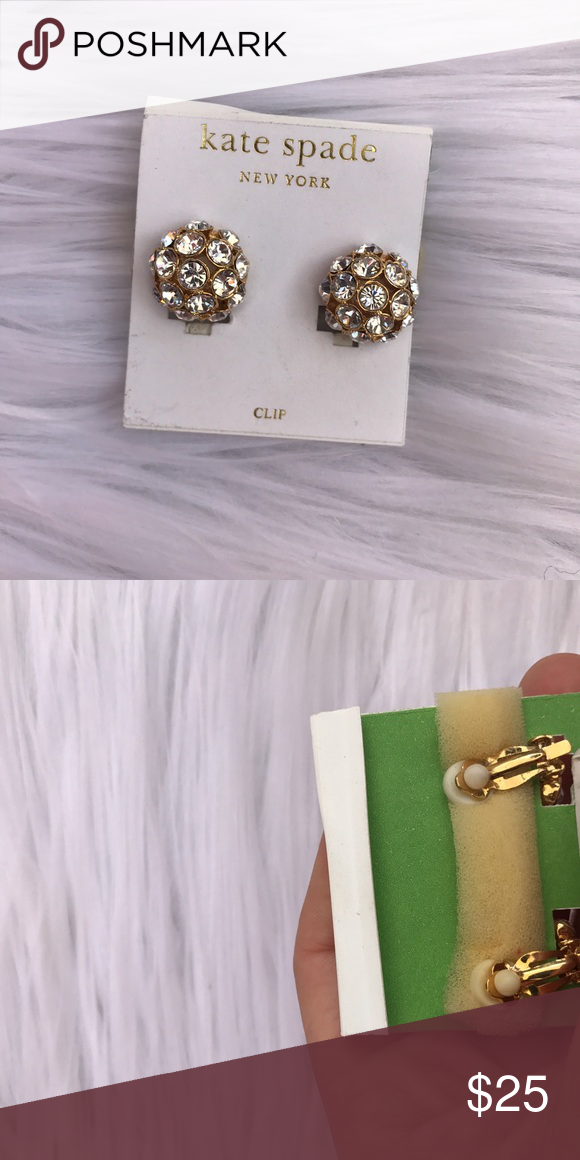 KATE SPADE RHINESTONE BALL CLIP EARRINGS NEW New kate spade Jewelry Earrings