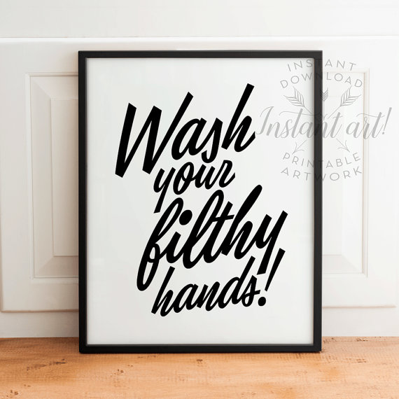 Flush Bathroom Humor Wall Art Unique Christmas Gifts