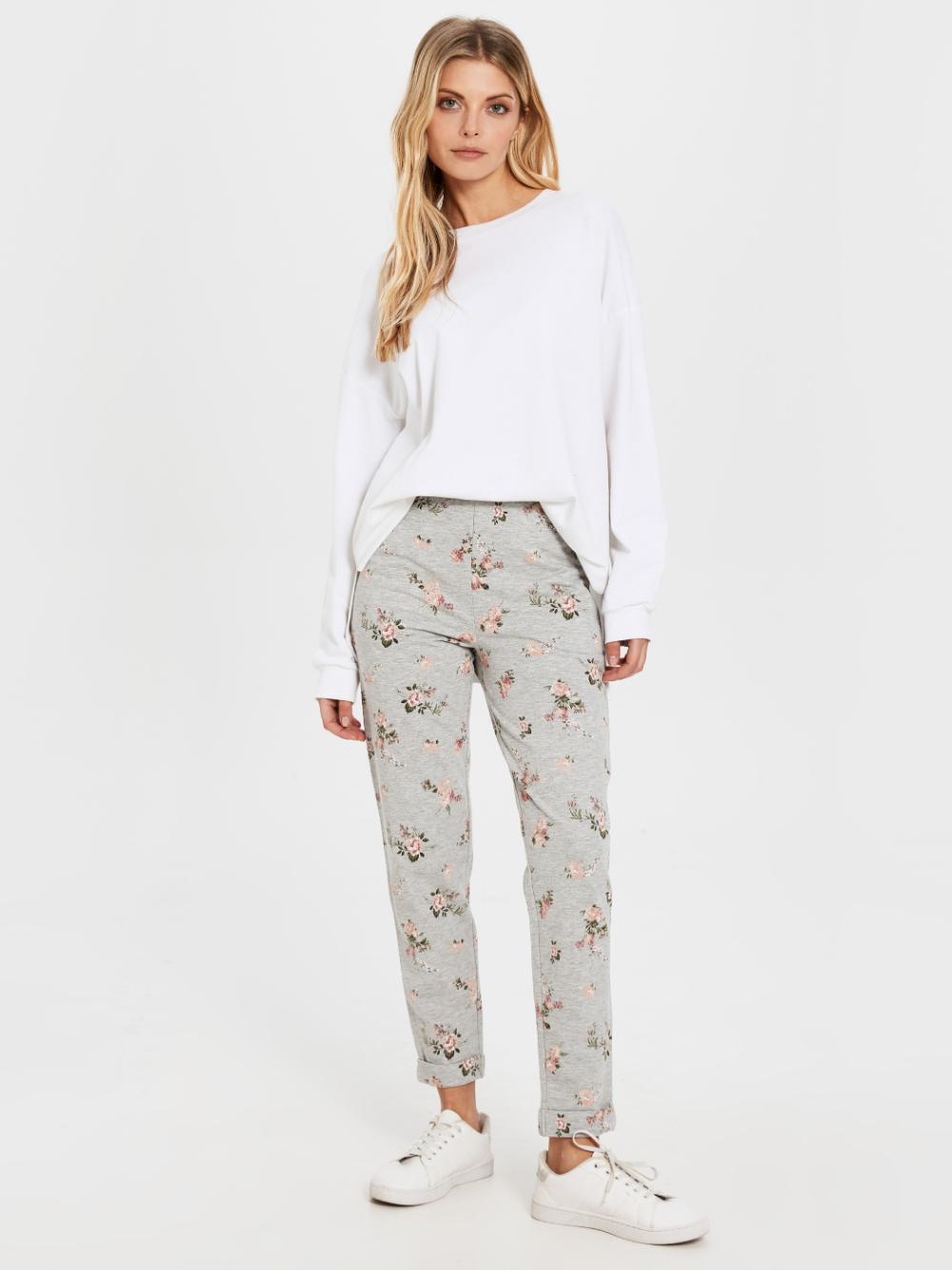 خرید اینترنتی شلوار راحتی طرح گل طوسی زنانه السیوایکیکی فروشگاه اینترنتی لباس زنانه In 2020 Pajamas Fashion Pajama Pants