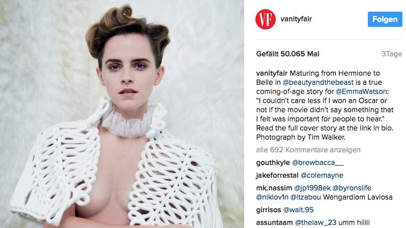 Nachricht: Fotoshooting: Feministin und halbnackt: Emma Watson löst Diskussion aus - http://ift.tt/2mnwSpp #aktuell