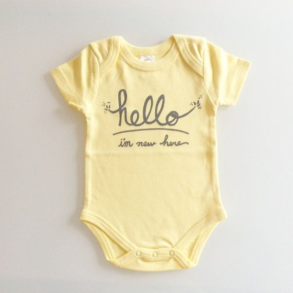 Baby Gifts For Gender Neutral : Hello i m new here gender neutral baby gift by eggagogo