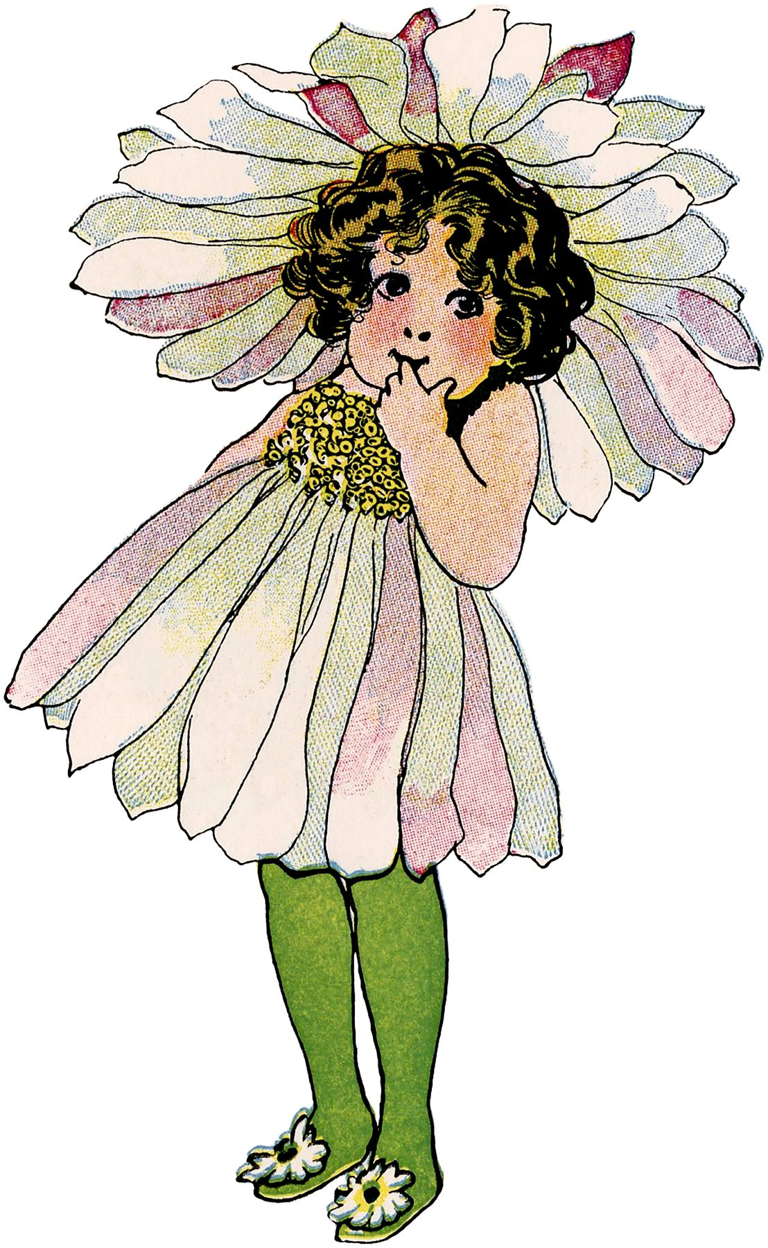 Vintage Flower Fairy Child Image Printables