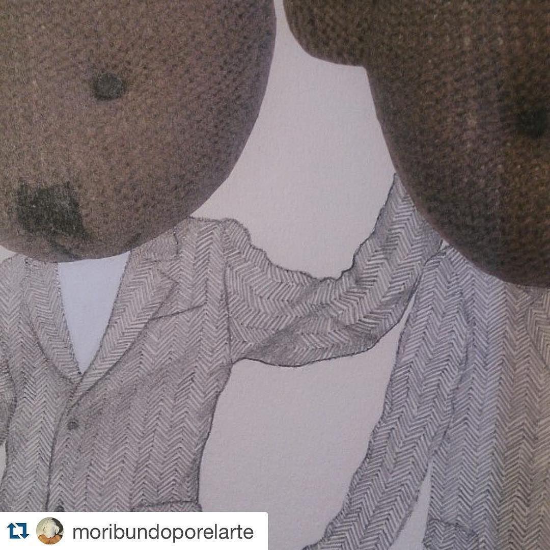 #Repost @moribundoporelarte  Ya queda menos para @openstudiomadrid. Consulta el último post en mi blog con todas las novedades http://ift.tt/1PKOP6v #openstudio #art #arte #draw #dibujo #papel #paper #pencil #lapicero #grafito #graphite #workinprogress #workinghard #chinecole #osodepeluche #teddybear #doppleganger #love #artecontemporaneo #contemporaryart #contemporaryartcurator