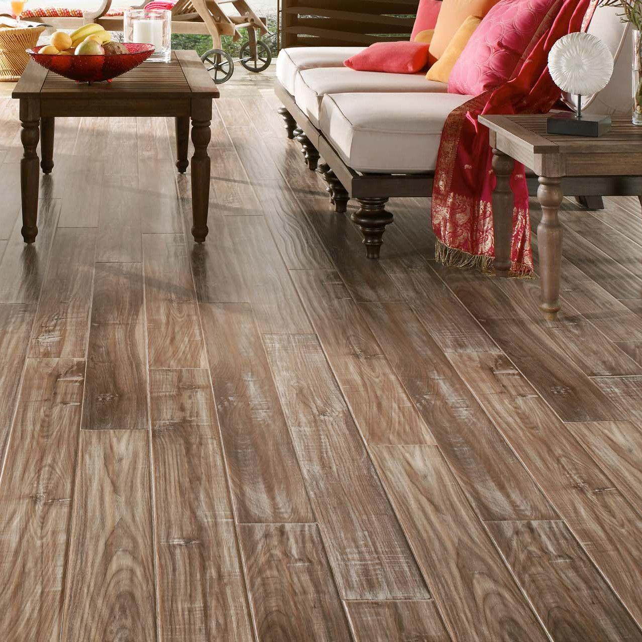 """Coastal Living 5"""" x 47"""" x 12mm Walnut Laminate Flooring"""