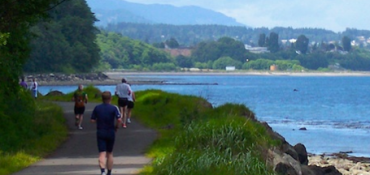 north olympic discovery marathon has beautiful views to urge you on!