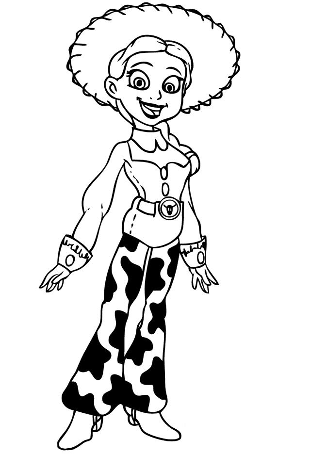Toy Story Jessie Coloring Pages Toy Story Cartoon Coloring Pages