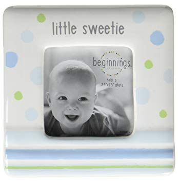 Beginnings by Enesco Little Sweetie Baby Boy Photo Frame, 4 inches ...