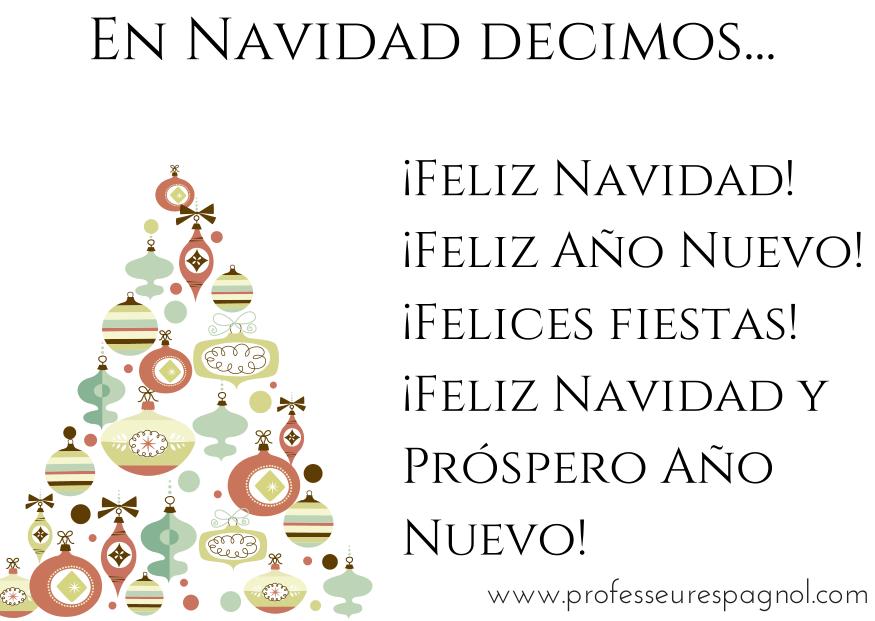 Buon Natale In Spagnolo.En Navidad Decimos Espagnol Apprendre Espagnol Cours Espagnol