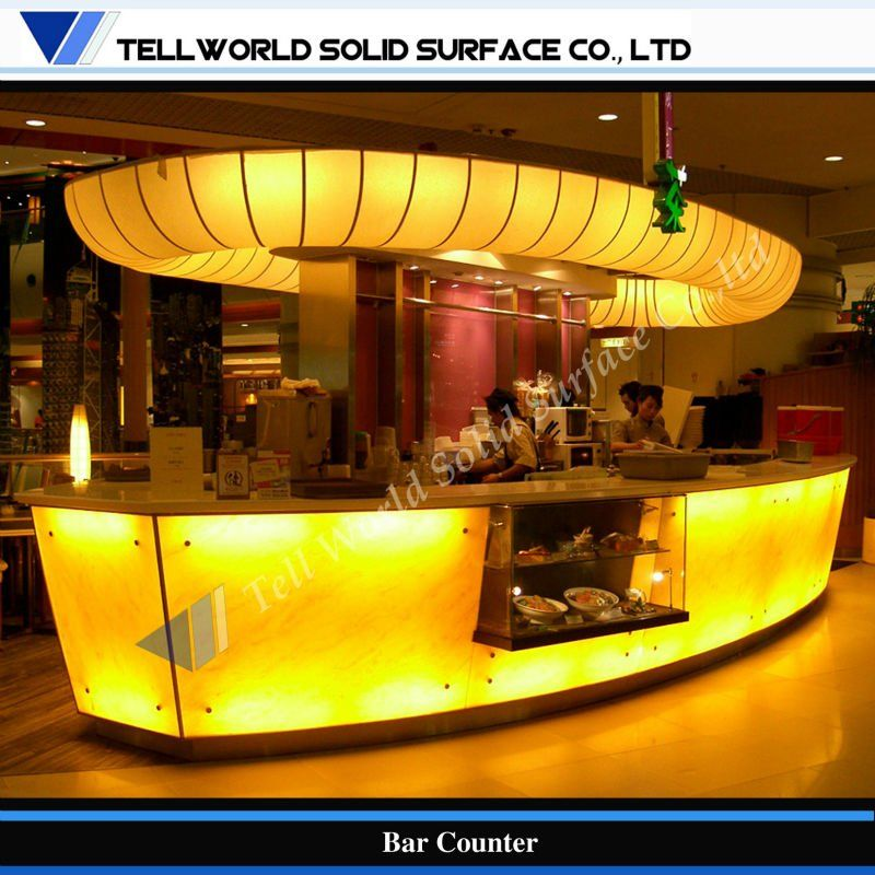 tw led de iluminación de diseño piedraartificial comercial barra de bar - spanish.alibaba.com