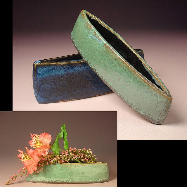 Rebekah Thomas Ikebana Boat Vases By Rebekah Thomas Clay