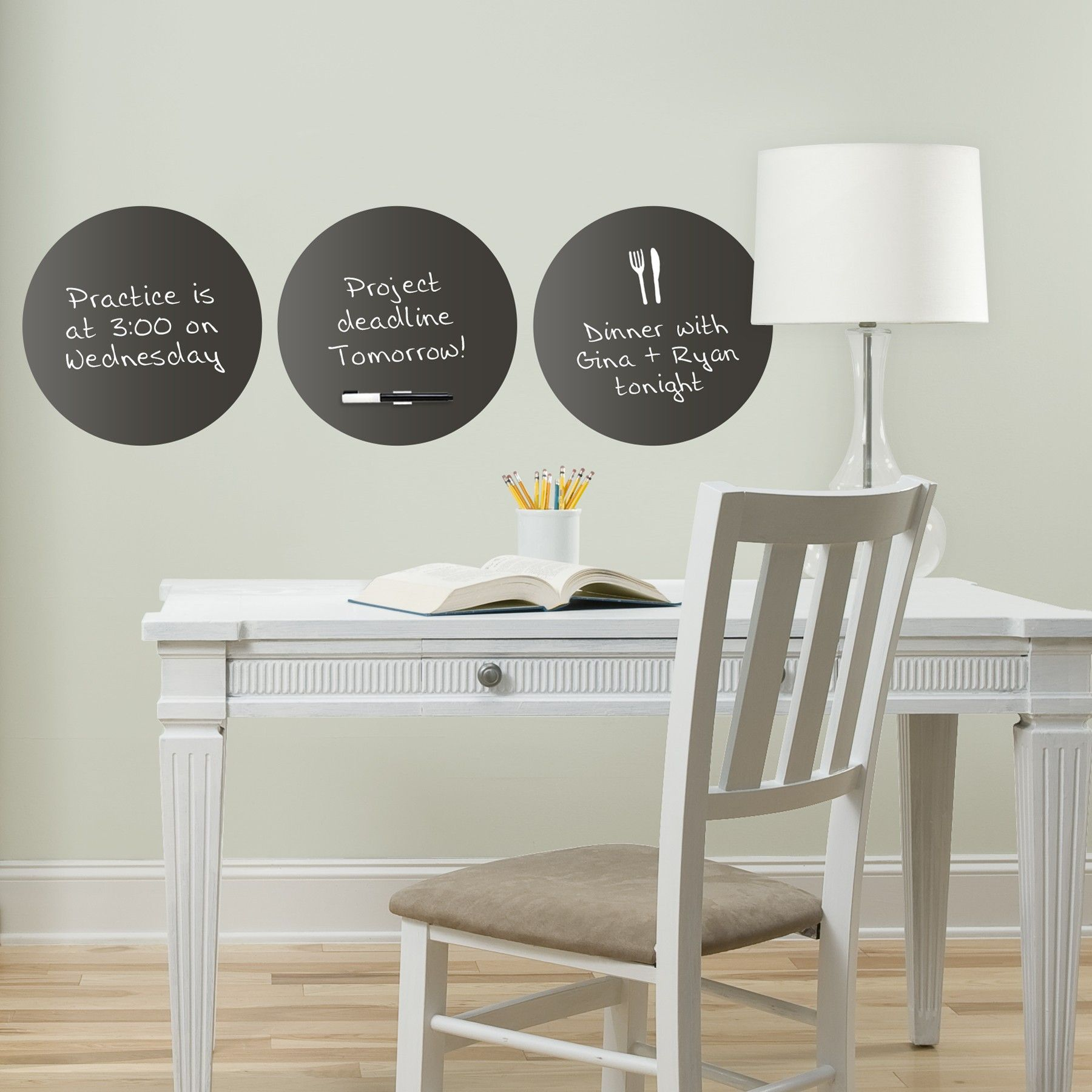 Wall Pops Dry-Erase Dots-These decals are dot shaped, dry-erase, safe for walls and can be used in many rooms!