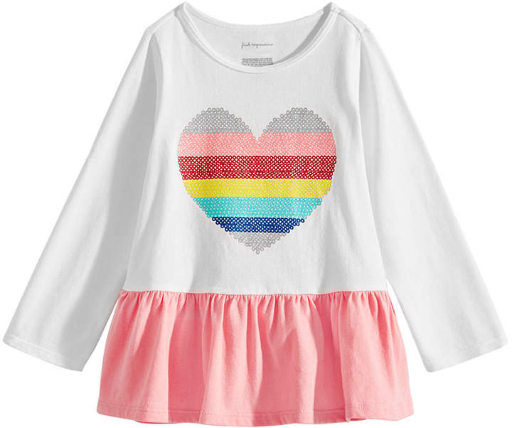 Letiane Baby Girls Valentines Day Dress Stripe Heart Print Princess Sundress Outfits
