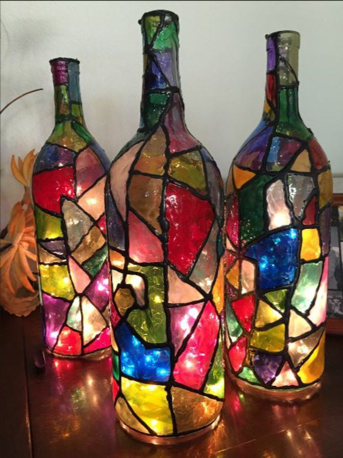 42 upcycling ideen f r diy lampen aus glasflaschen glass. Black Bedroom Furniture Sets. Home Design Ideas