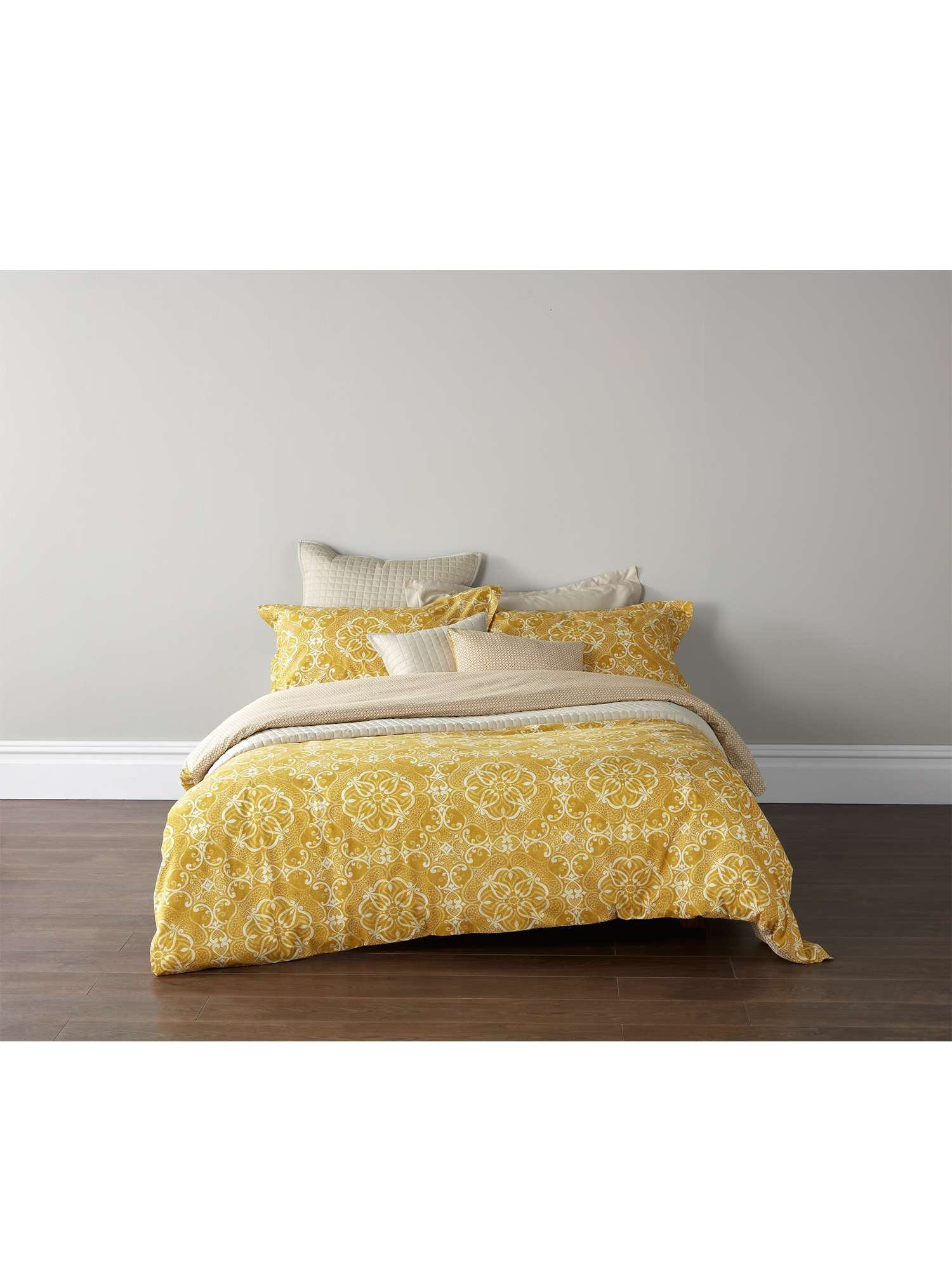 Christy Sumatra Single Duvet Set Ochre