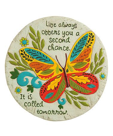 Another great find on #zulily! Butterfly 'Second Chance'' Garden Stone #zulilyfinds