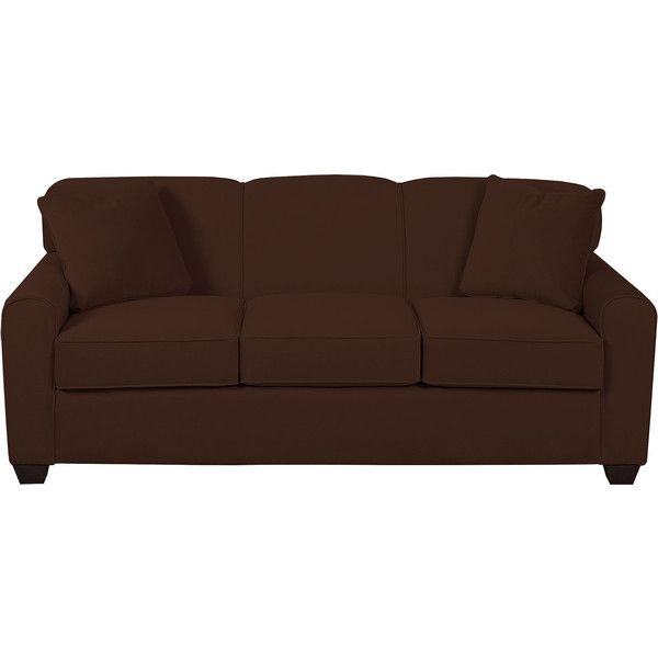 Sleeper Possibilities Dome-Arm Sofa featuring polyvore, home, furniture, sofas, tufted furniture, woven furniture, tufted sofa, tufted couch and colored furniture