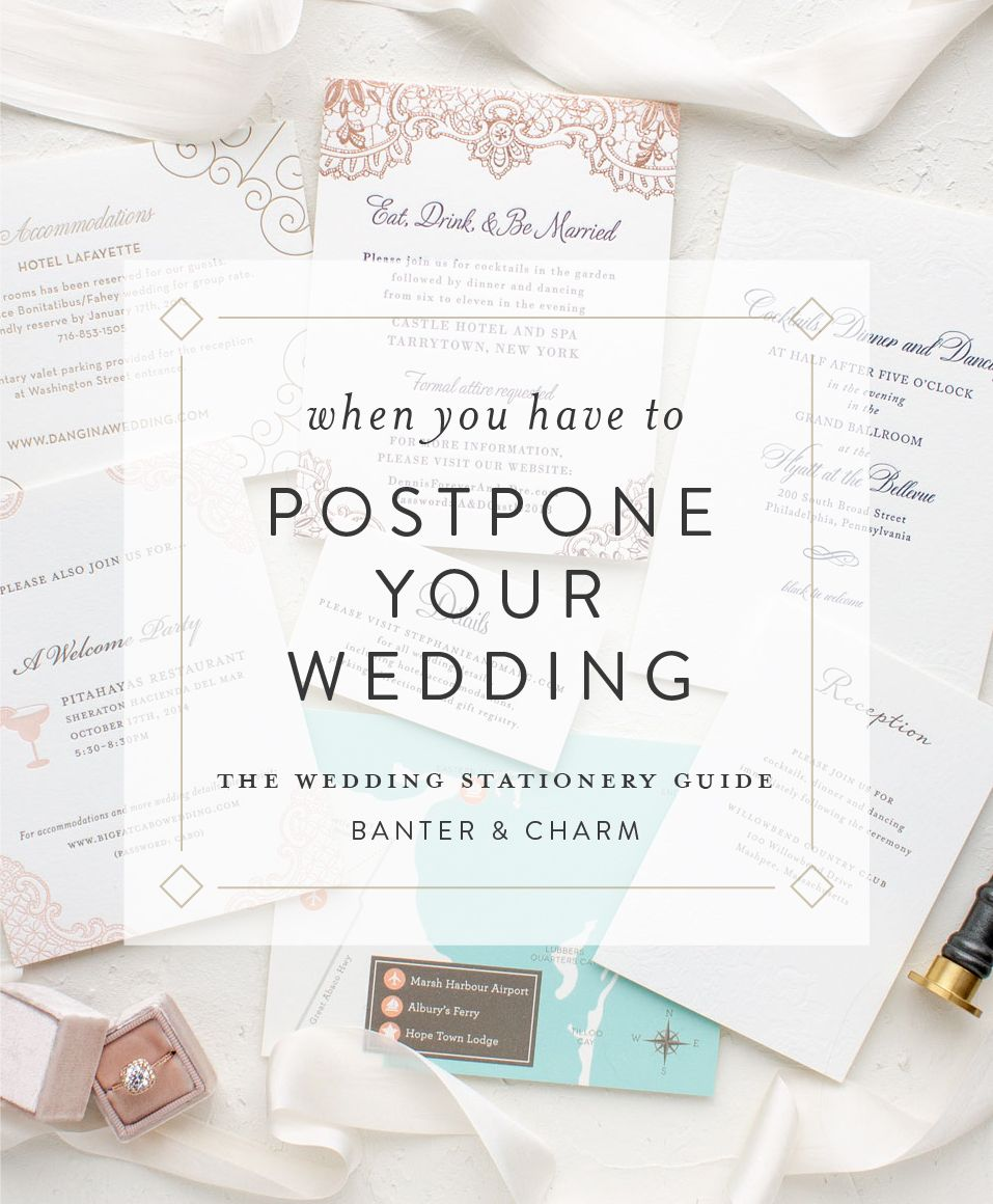 When you have to postpone your wedding in 2020 Wedding
