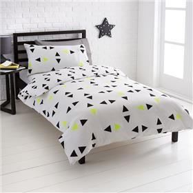 Double Bed Quilt Cover Set   Noah Triangles Design