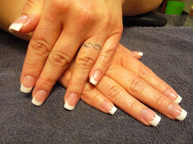 Pink And White Acrylic Nails - http://www.mycutenails.xyz/pink-and ...
