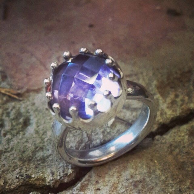 446a71218 Amethyst and silver Velvet crown ring - Rachel Jeffrey | Shop ...
