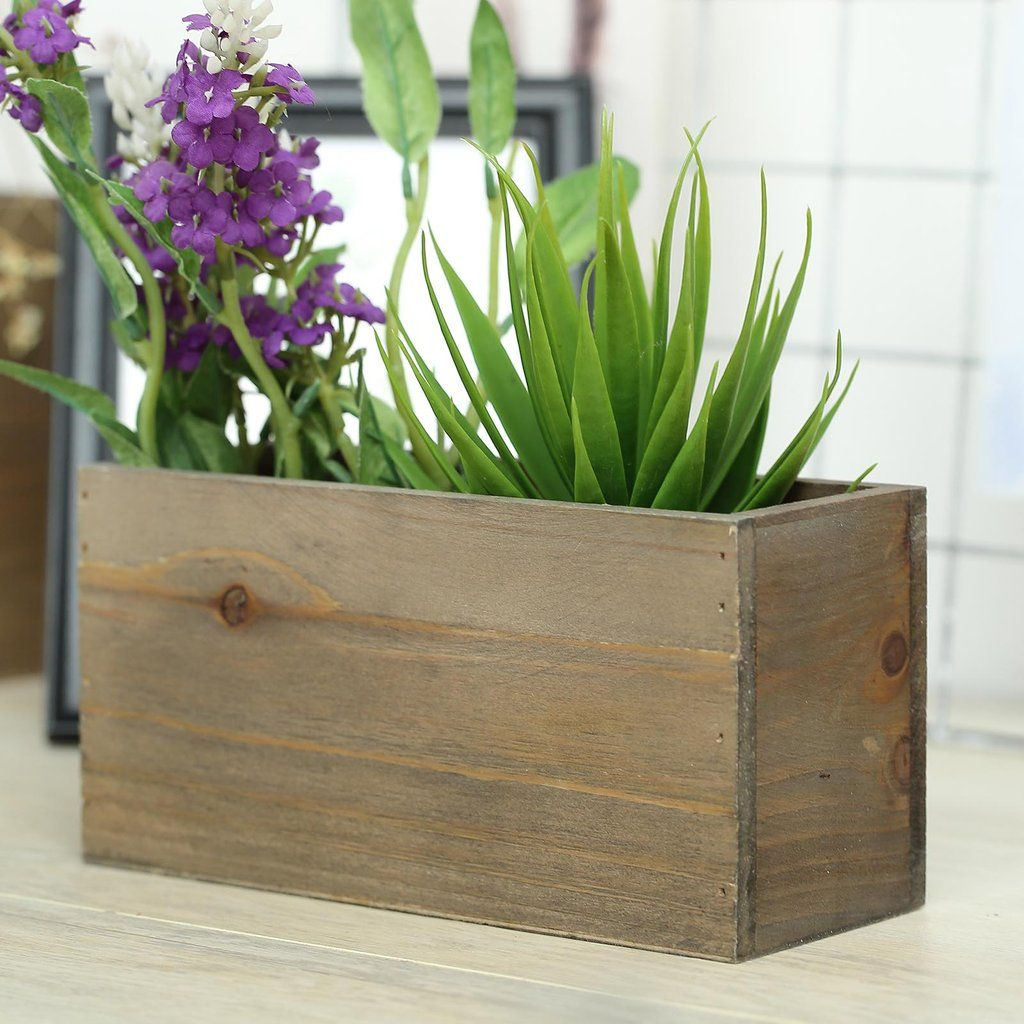 "2 Pack 8""x4'' Natural Rectangular Unfinished Wooden"