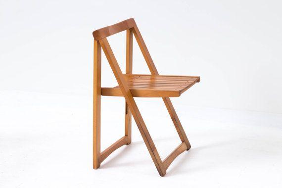 Set Of 4 Romanian Folding Chairs Mid Century Modern Vintage