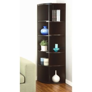Furniture Of America Shifter Modern Expandable Two Tone Corner Bookcase Display Stand