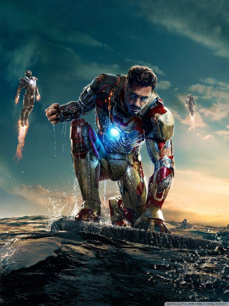 Iron Man 3 Iron Man Vs Mandarin Hd Desktop Wallpaper High