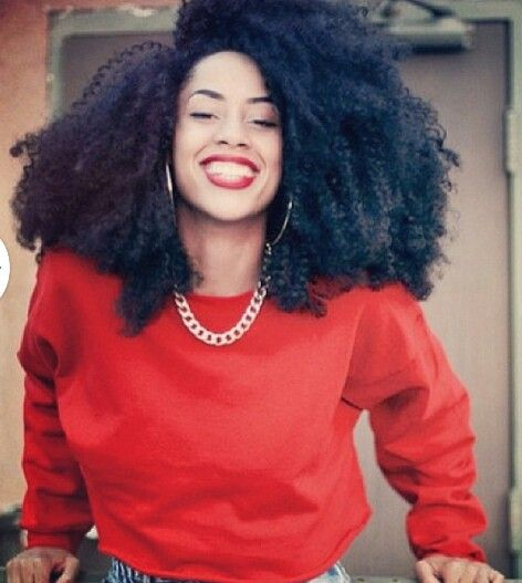 Her smile says she loving her textures