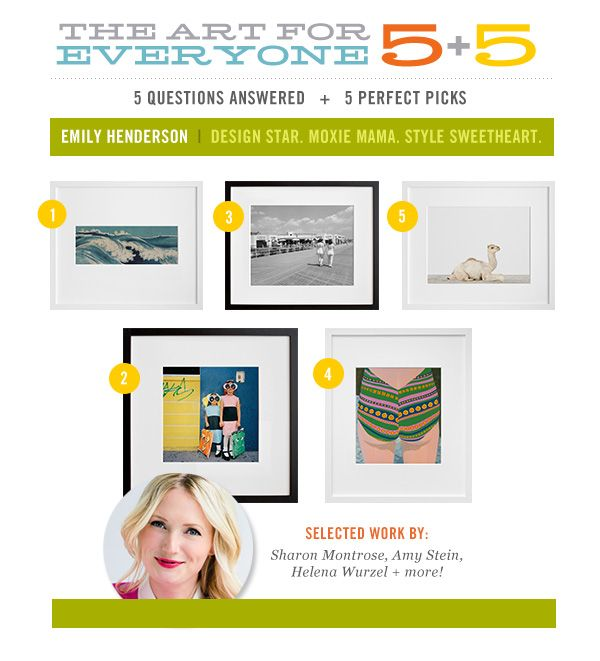 @em_henderson: Design Star, Moxie Mama, and Style Sweetheart answers 5 questions and talks about her 5 perfect art picks!