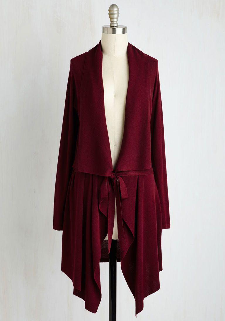 Swishin' and Hopin' Cardigan in Merlot | Burgundy sweater, Met and ...