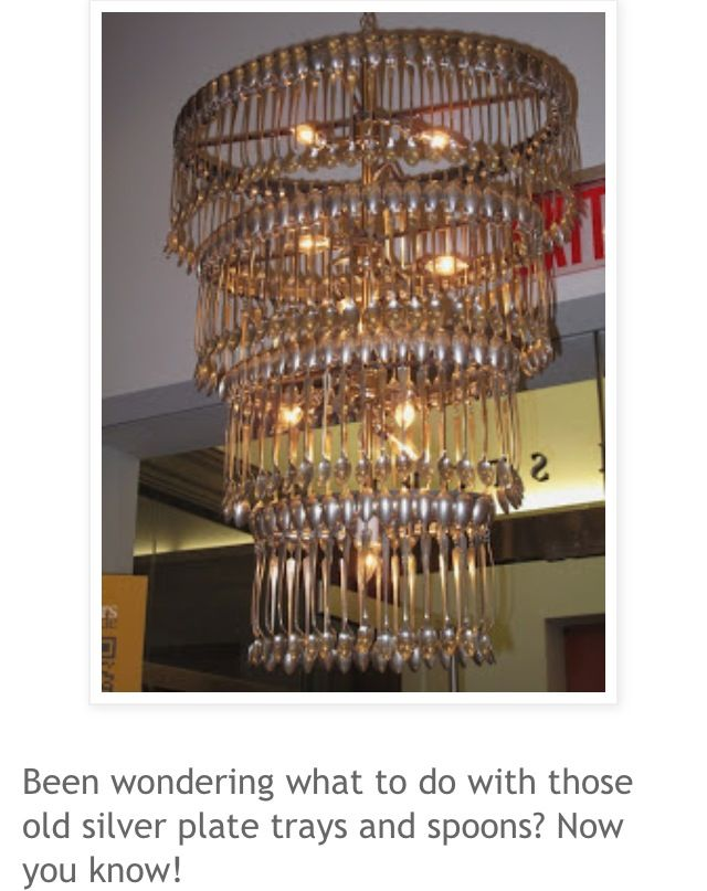 Chandelier Made Out Of Vintage Silverware