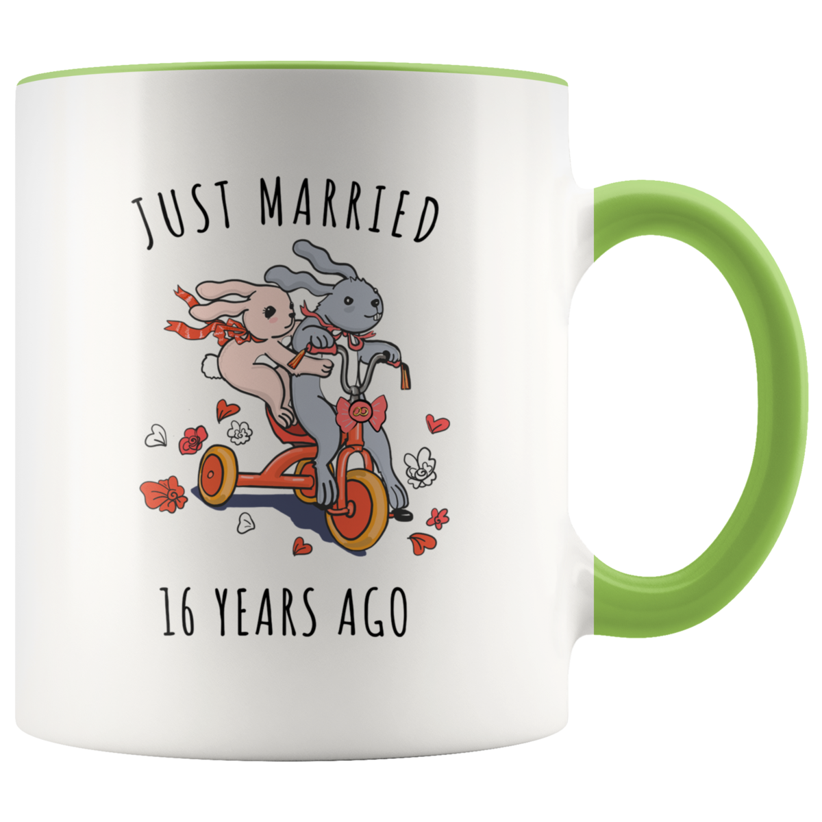 Just Married 16 Years Ago 16th Wedding Anniversary Gift