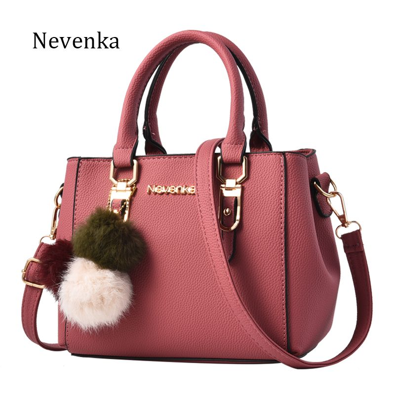 37.42 - Nice Nevenka Women Bag Pu Leather Tote Brand Name Bag Ladies  Handbag Lady Evening Bags Solid Female Messenger Bags Travel Fashion Sac -  Buy it Now! 19e35f4a1910e