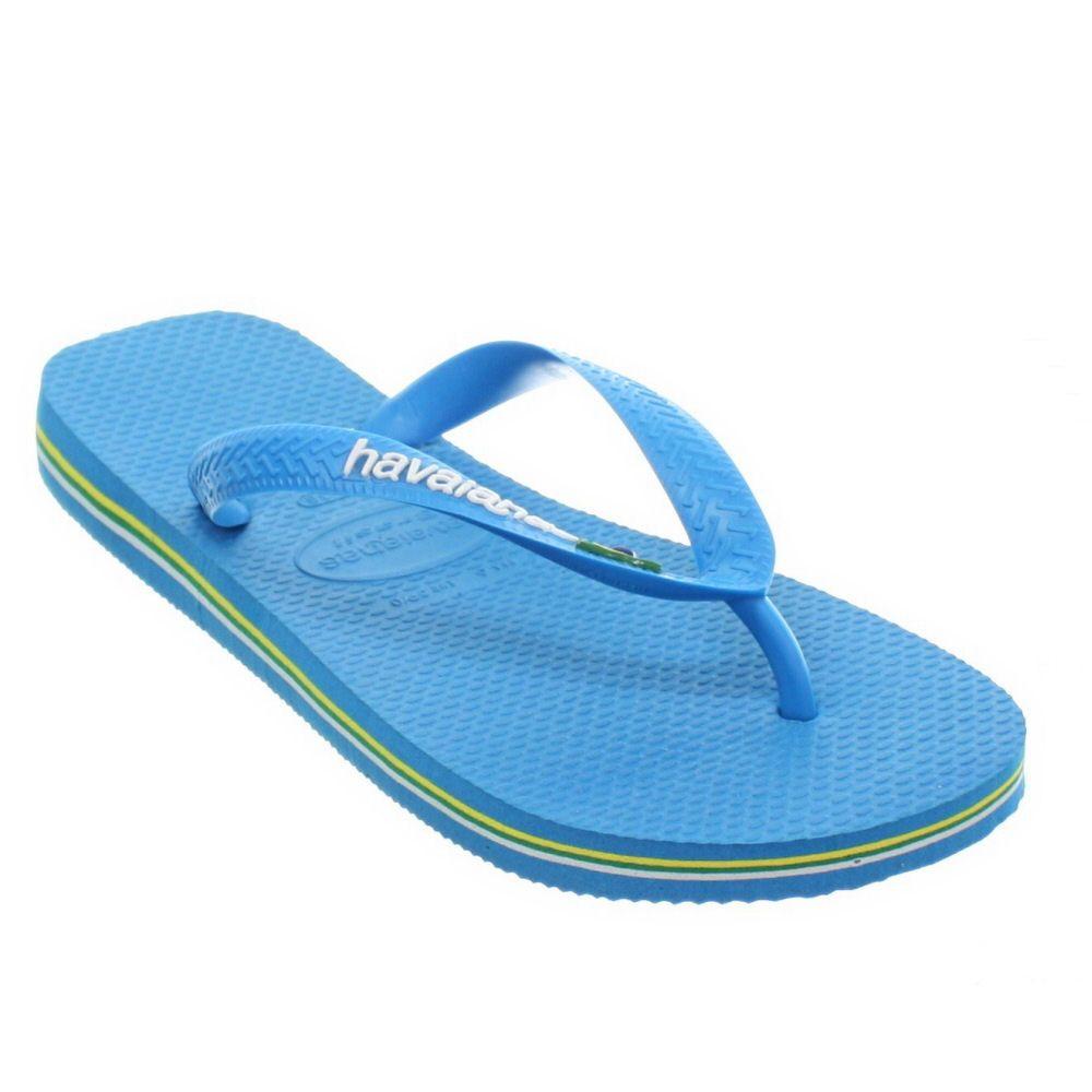 4eb377898479f WOMENS HAVAIANAS BRAZIL LOGO AZUL SKY BLUE LADIES FLIP FLOPS SIZE 3-4-12-13