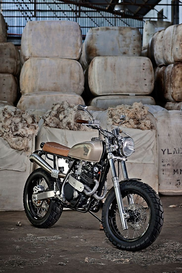 New life for an old desert racer. After a stint in the Australian outback, this Honda XR600 is now ready for the street. Terrific work from Perth-based 66 Motorcycles.