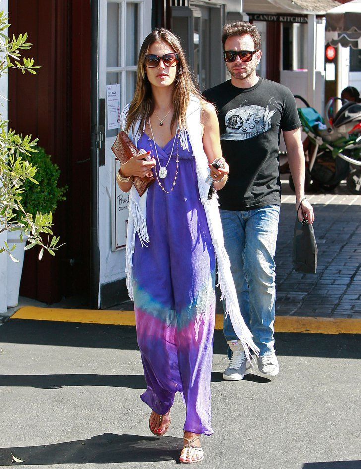 Pin for Later: Allow Alessandra Ambrosio to Demonstrate How to Wear the Freshest Summer Item: The Maxi Dress Tie-Dye