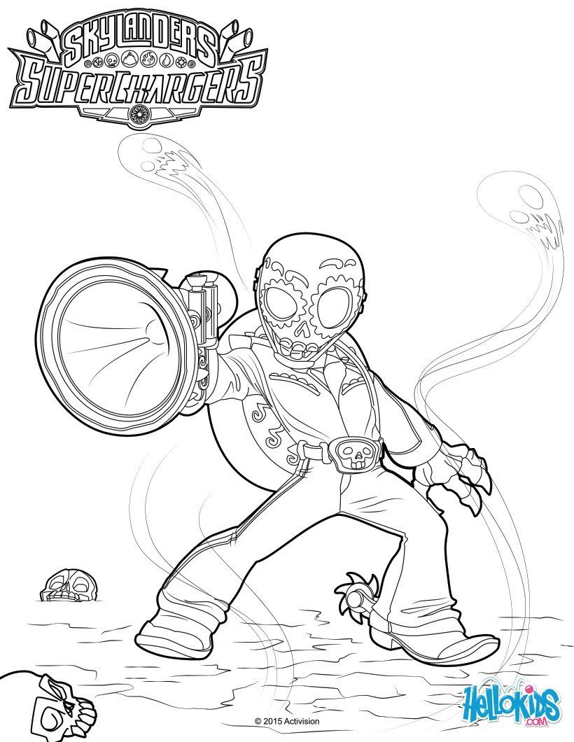 Fiesta Coloring Page From Skylanders Video Games More Content On Hellokids