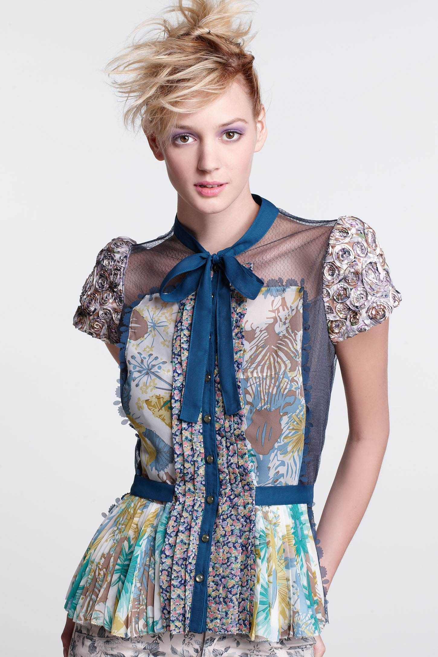 Wilderflora Patchwork Blouse - Anthropologie.com | YS | Style ...